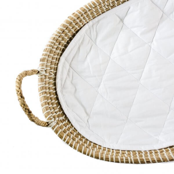 baby changing basket with quilted liner
