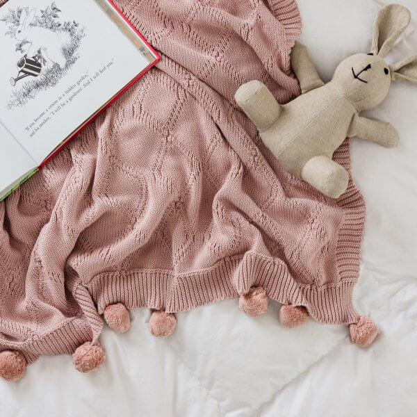 pink baby blanket stuffed bunny