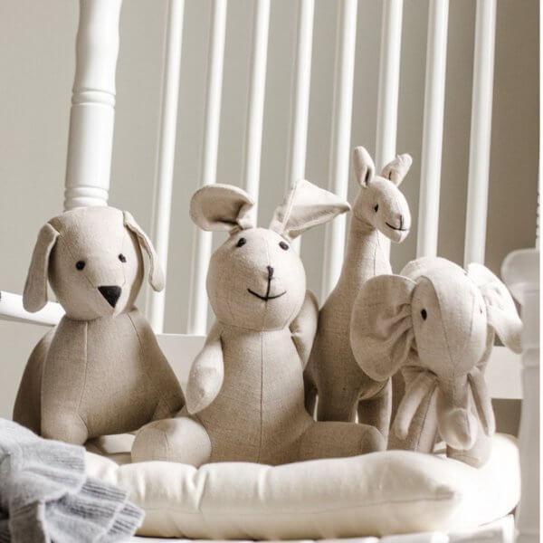 stuffed animals linen