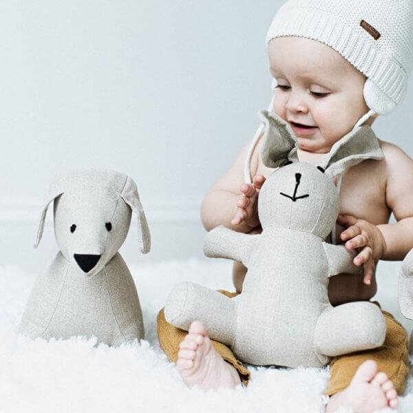 linen puppy baby boy