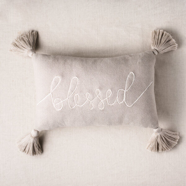 blessed accent pillow