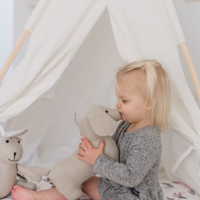 Linen Friends make for the best Mondays!  This little one is enjoying playtime with 'Paolo' the Natural Linen Stuffed Puppy and 'Bella' the Natural Linen Stuffed Bunny. Linen Perch's take on the classic toy is both chic and timeless— check the whole Linen Friends crew out on the Linen Perch website (link in bio)!  #linenperch #babygift #mommyblogger #babyshower #nursery #nurserydecor #stuffedanimal #kidsgift #lp #neutralnursery #neutralnurserydecor #modernnursery #bohonursery #momlife #momsofinstagram #blanket #cozyhome #chicnursery #babygirl #babyboy #babyboho #babyroominterior