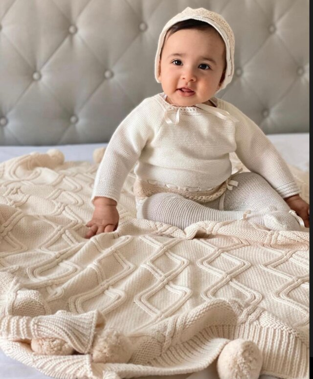 #AppreciationPost for our beloved, 100% cotton, and perfectly neutral Cable Knit Pom-Pom Throw Blanket!  Pictured here in the color Cream, our Cable Knit Pom-Pom Blanket is sure to make you and baby smile. It's cozy, sweet, and oh-so-chic!   Check out in all of the colors of our Cable Knit Pom-Pom Throw Blanket at the Linen Perch website (link in bio)!  #babyshowergift #throwpillows #throwblanket #nursery #nurserydecoration #nurseryinspiration #nurseryinspo #nurseryideas #throwpillows #cutepillows #nurserygift  #babygifts #cottonpillows #babydecorideas #babynurserydecor #babyshowgifts #bestbabygifts #babyshower #lamapillow #cutethrowpillow #giftideas #linenperch #nurserydecor #cutepillows