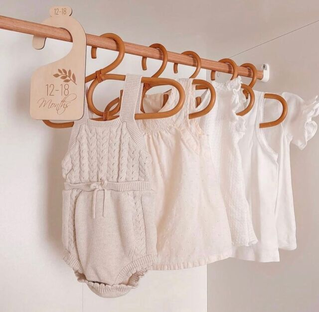 Organized in style!  Our Nursery Closet Dividers include a set of 7 dividers that will help you organize baby's closet as he/she grows. These basswood dividers are engraved with newborn, 3-6 months, 6-9 months, 9-12 months, 12-18 months and 18- 24 months. They pair nicely with our Rattan Baby Hangers (pictured here) for the ultimate vintage-inspired closet re-do!  Check them out on the Linen Perch website (link in bio) or on our IG store!  #linenperch #closetorganization #nurserycloset #nurseryhangers #nurseryinspo #closetmakeover #babyshower #babygoods #rattannursery #bohostyle #bohonurserydecor #bohonursery #momlife #dadlife #momsofinstagram #dadsofinstagram #babyinfluencer #influencer #babygirl #babyboy #closetideas #closetmakeover #nurserycloset #babyclothing #babyreveal #newmom #newdad #babygirlsroom #babyboysroom #vintagenursery