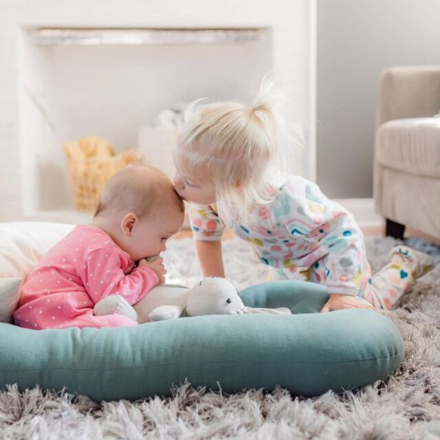 """Sweet sibling time 🤍  Check out Linen Perch's """"Bella"""" the Natural Linen Stuffed Bunny— the perfect baby shower gift and favorite first stuffed animal. We love that Bella is constructed with OEKO-TEK® 100 certified linen which is safe for your child.  Bella comes bundled up in a matching embroidered linen bag (which we think pairs beautifully with our Cable Knit Pom-Pom blanket!) to make for a modern yet classic baby gift.  Shop for """"Bella"""" and check out the other members of the adorable Linen Perch Natural Stuffed Linen gang on the Linen Perch website (link in bio) or on our IG store!  #linenperch #babygift #mommyblogger #babyshower #nursery #nurserydecor #stuffedanimal #kidsgift #lp #neutralnursery #neutralnurserydecor #modernnursery #bohonursery #momlife #momsofinstagram #blanket #cozyhome #chicnursery #babygirl #babyboy #babyboho #babyroominterior"""