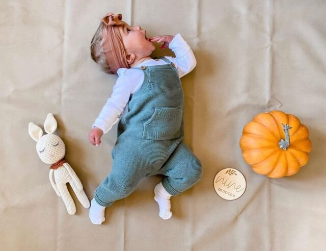 """Happy nine months, baby!  Linen Perch's Wood Milestone Discs will make for memorable, monthly photo-ops of baby throughout his or her first year of life. What better way to cherish these exciting moments by sharing these photos with family and friends?  Check out out best-selling Wood Milestone Discs at the Linen Perch website (link in bio) or on our IG store!  ¡""""Wood Milestone Discs"""" están disponibles en español! Búsquelos en nuestro sitio web (siga el enlace del sitio web en nuestra página).  #milestonediscs #monthlyphoto #babysfirst #1monthold #nurserydecoration #nurseryinspiration #nurseryinspo #nurseryideas #throwpillows #cutepillows #nurserygift  #babygifts #cottonpillows #babydecorideas #babynurserydecor #babyshowgifts #bestbabygifts #babyshower #lamapillow #cutethrowpillow #giftideas #linenperch #nurserydecor #cutepillows"""